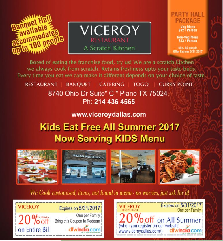 Viceroy Indian Restaurant Plano Tx